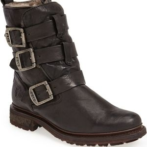 Frye Valerie Strappy Shearling Boot